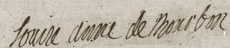 File:The signature of Louise Anne de Bourbon, Mademoiselle de Charolais.png