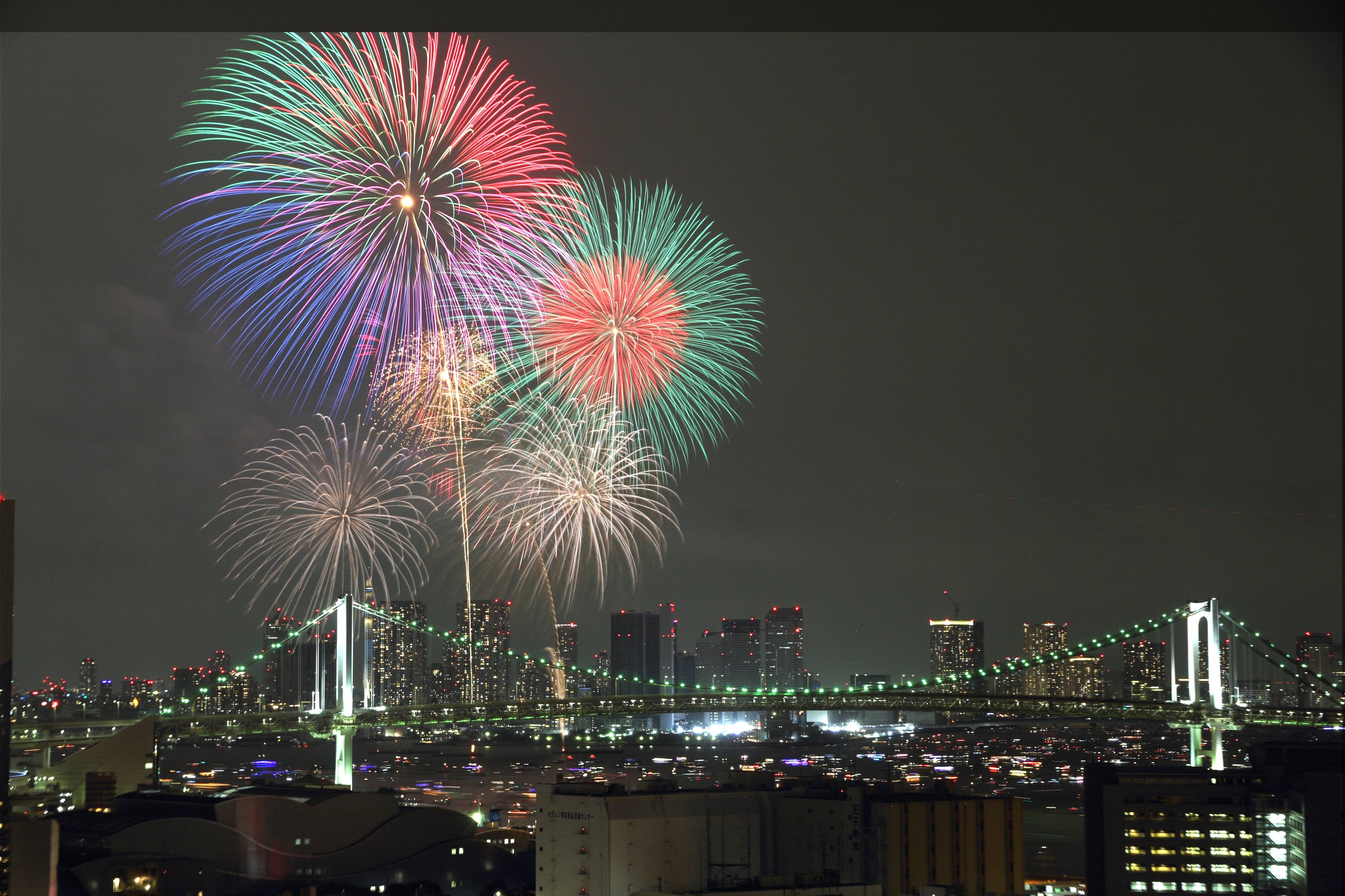 Tokyo bay fireworks 2015
