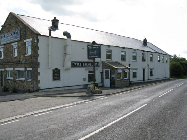 An image of the Twice Brewed Inn, believed to be the source of the strange place name of Twice Brewed.