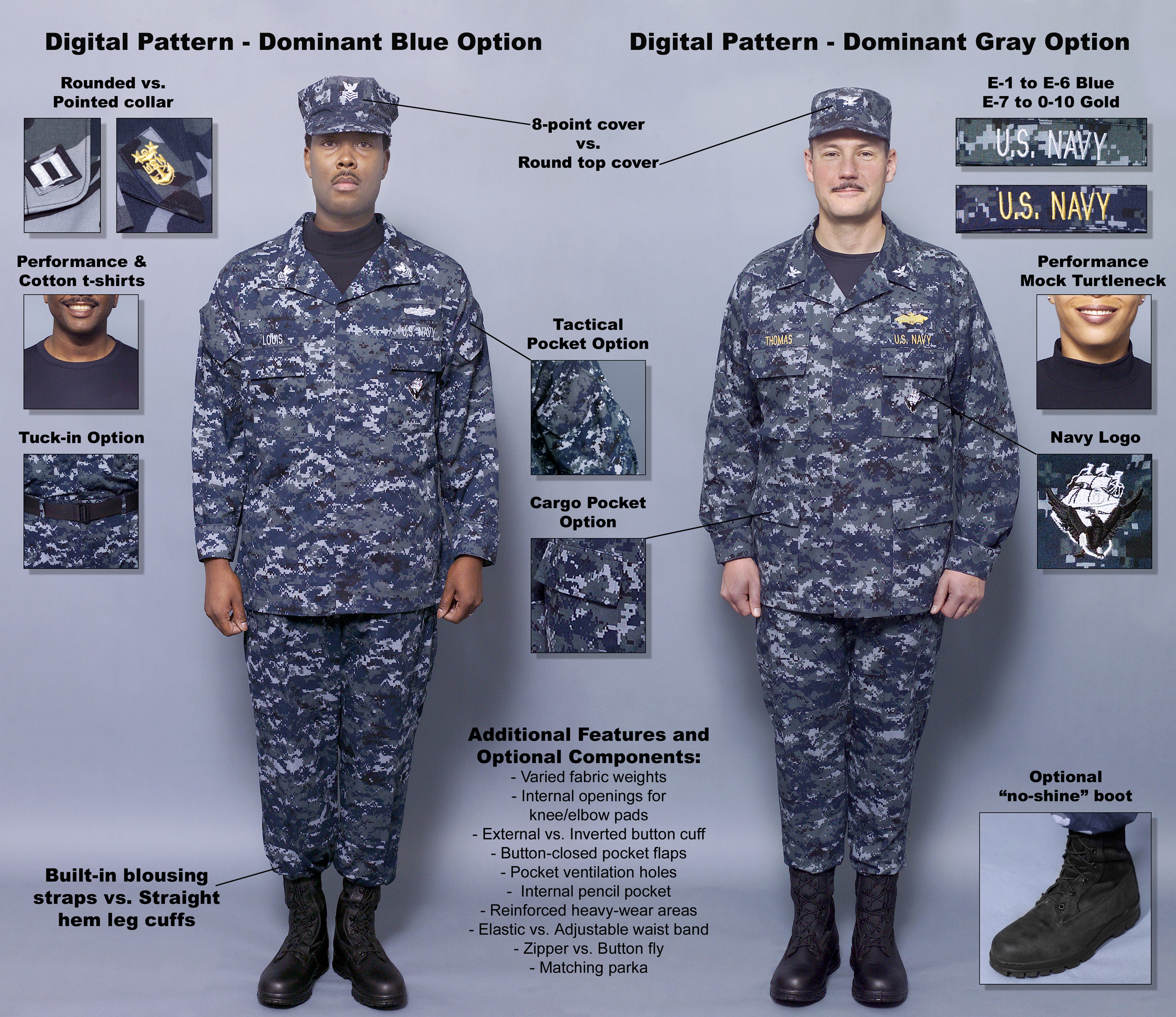 0000X-001 The Navy introduced a set of concept working uniforms ...