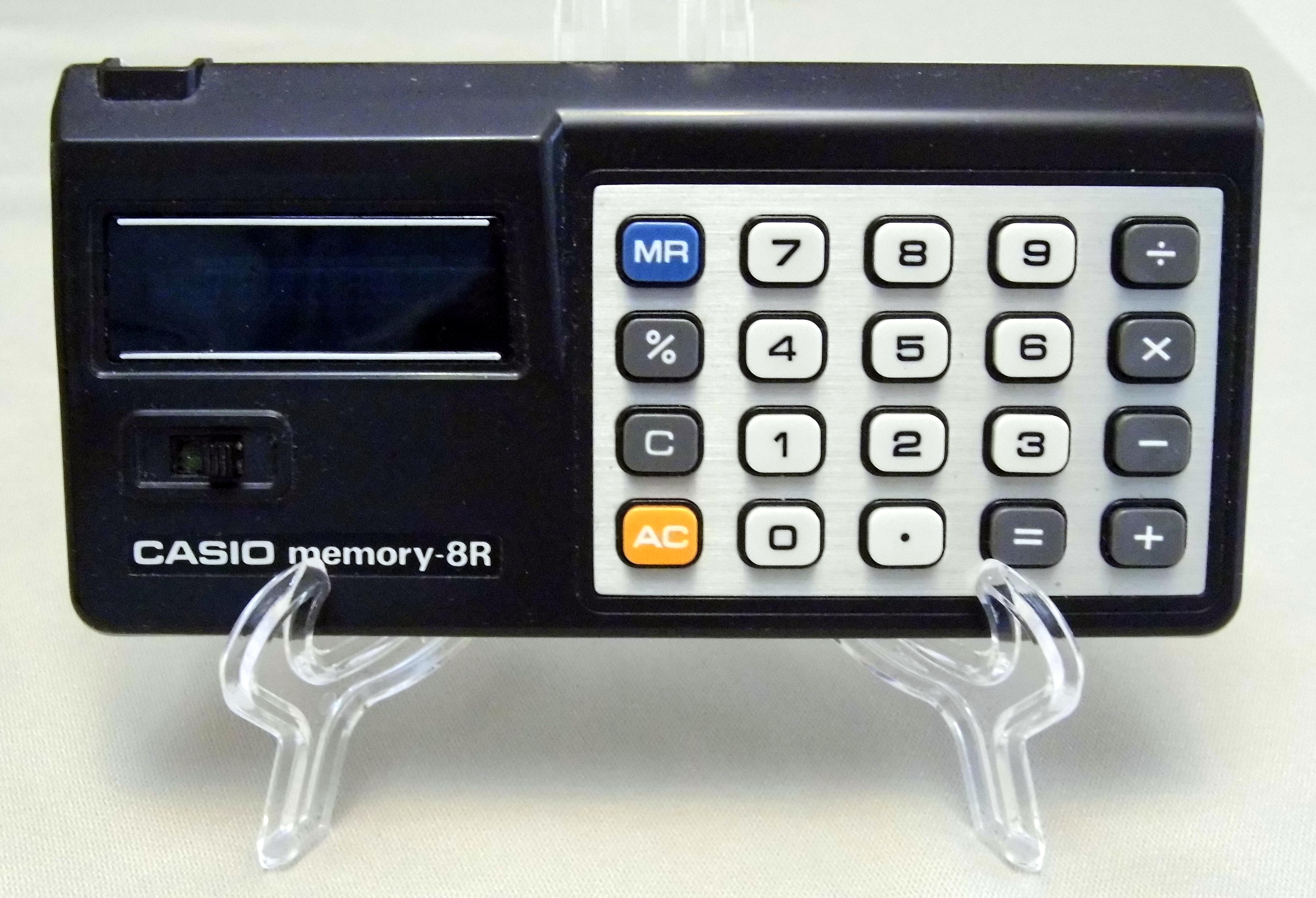 File:Vintage Casio Memory 8R (aka Y-811) LED Handheld