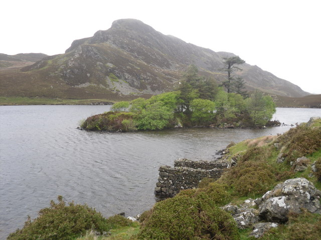 Wooded island - Cregennen Lakes - geograph.org.uk - 1310553