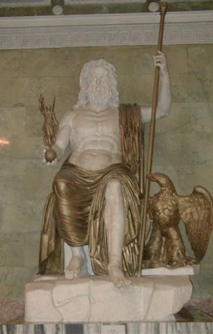 Roman Seated Zeus  marble and Zeus Greek God Statue
