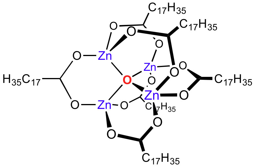 zinc diagram zinc stearate - wikipedia