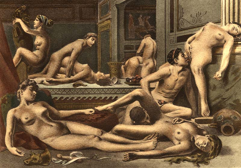 Ancient orgy art