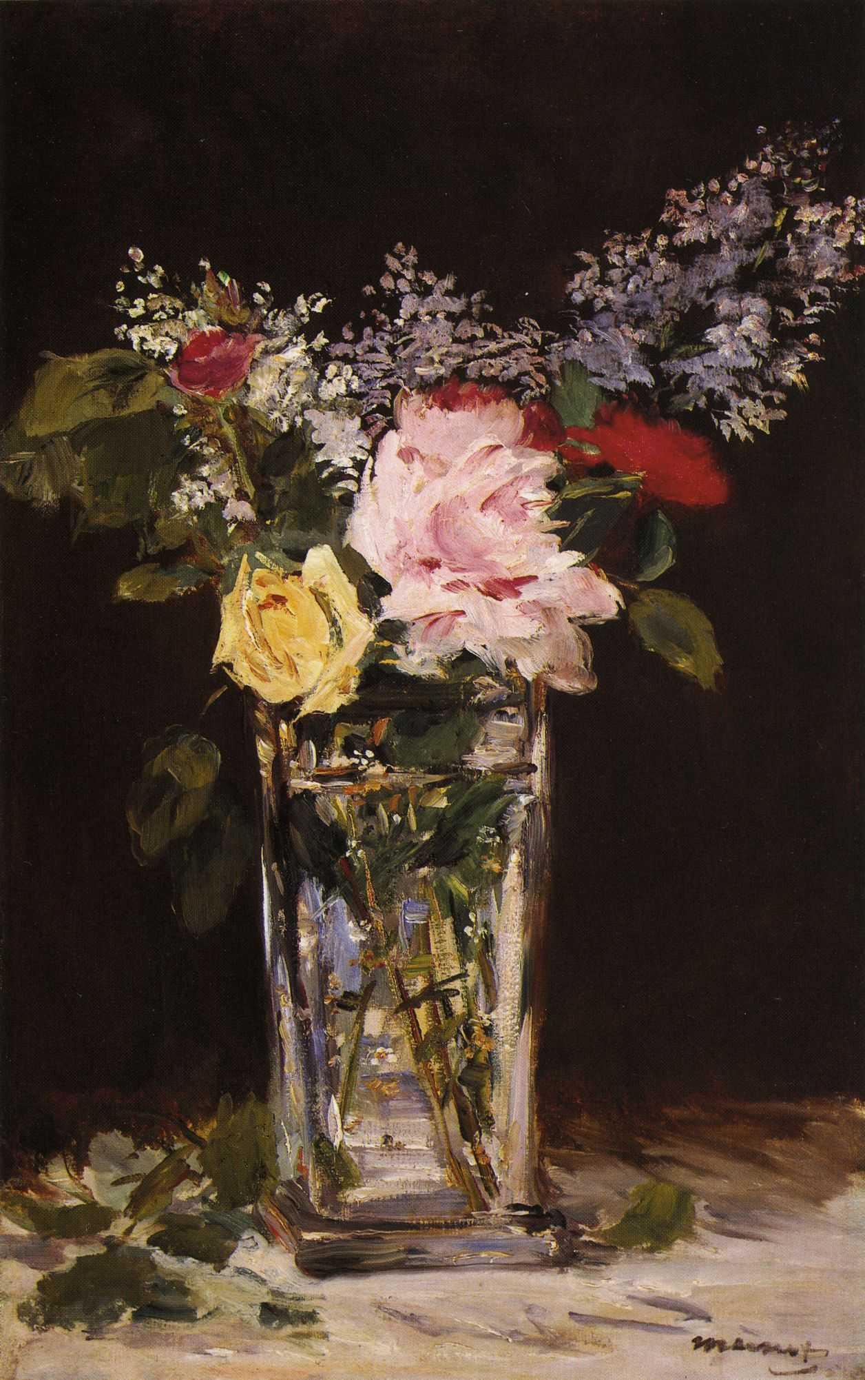 Картинки по запросу edouard manet lilas et roses