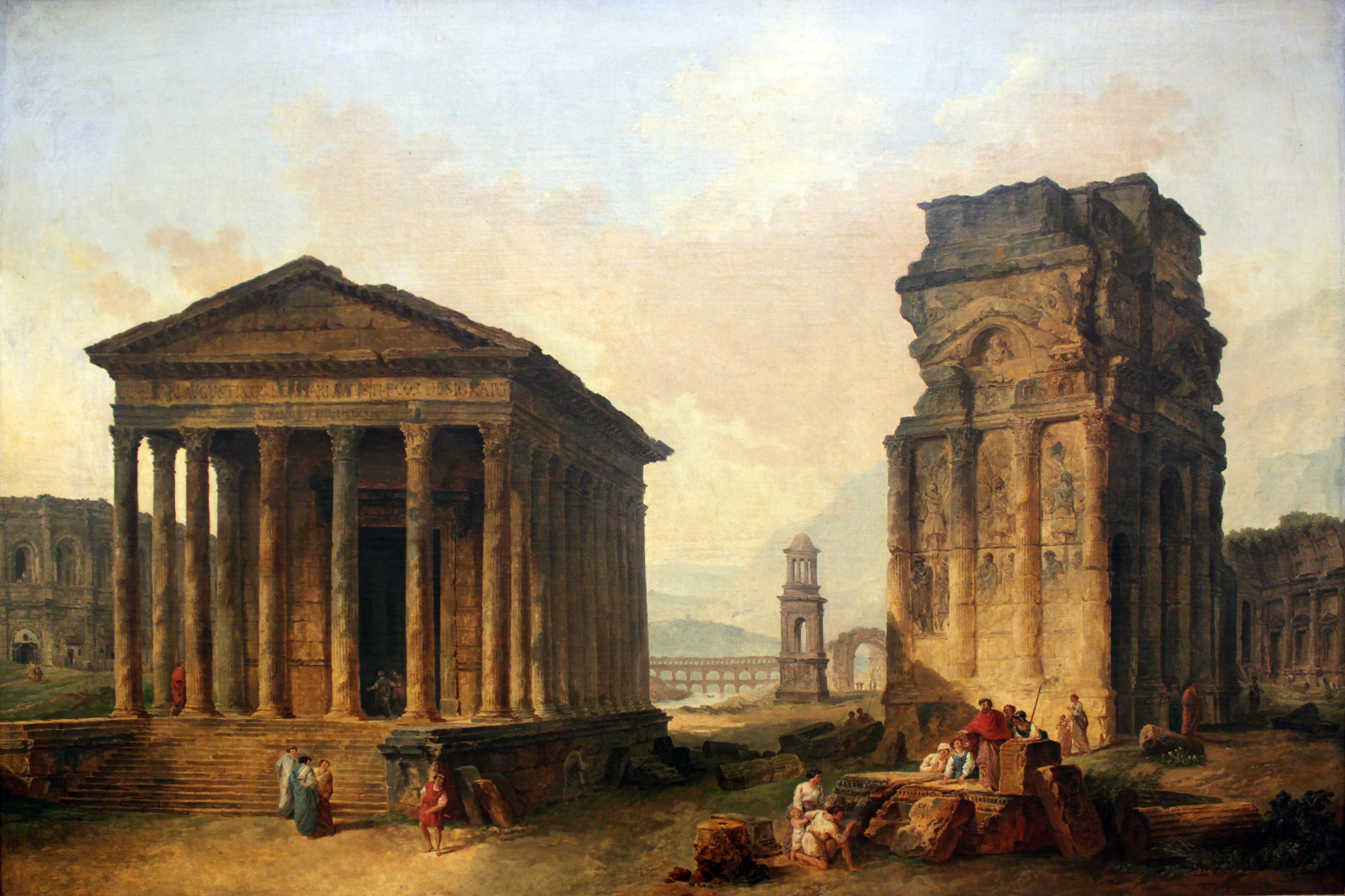 File 1789 robert ruins of nimes orange and saint remy de - Boutique orange nimes ...