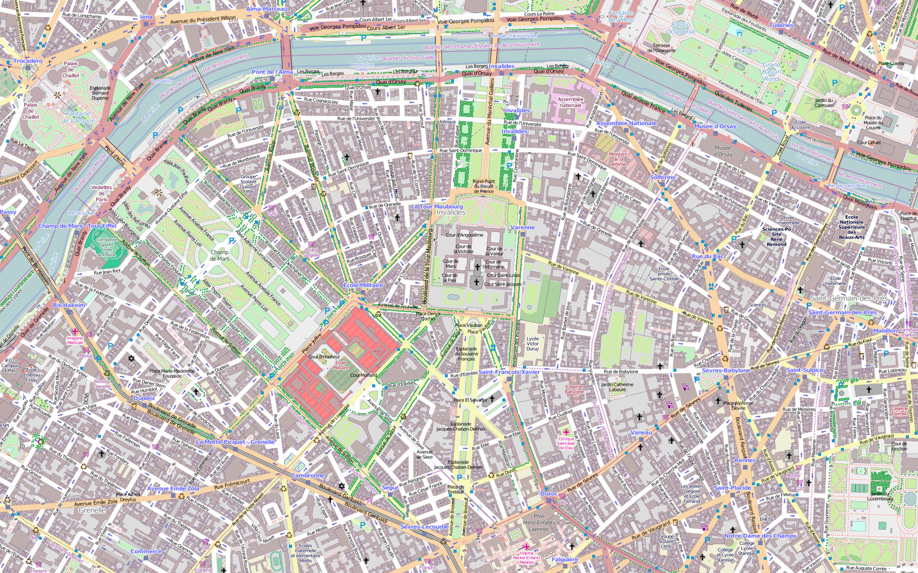street map of paris arrondissements