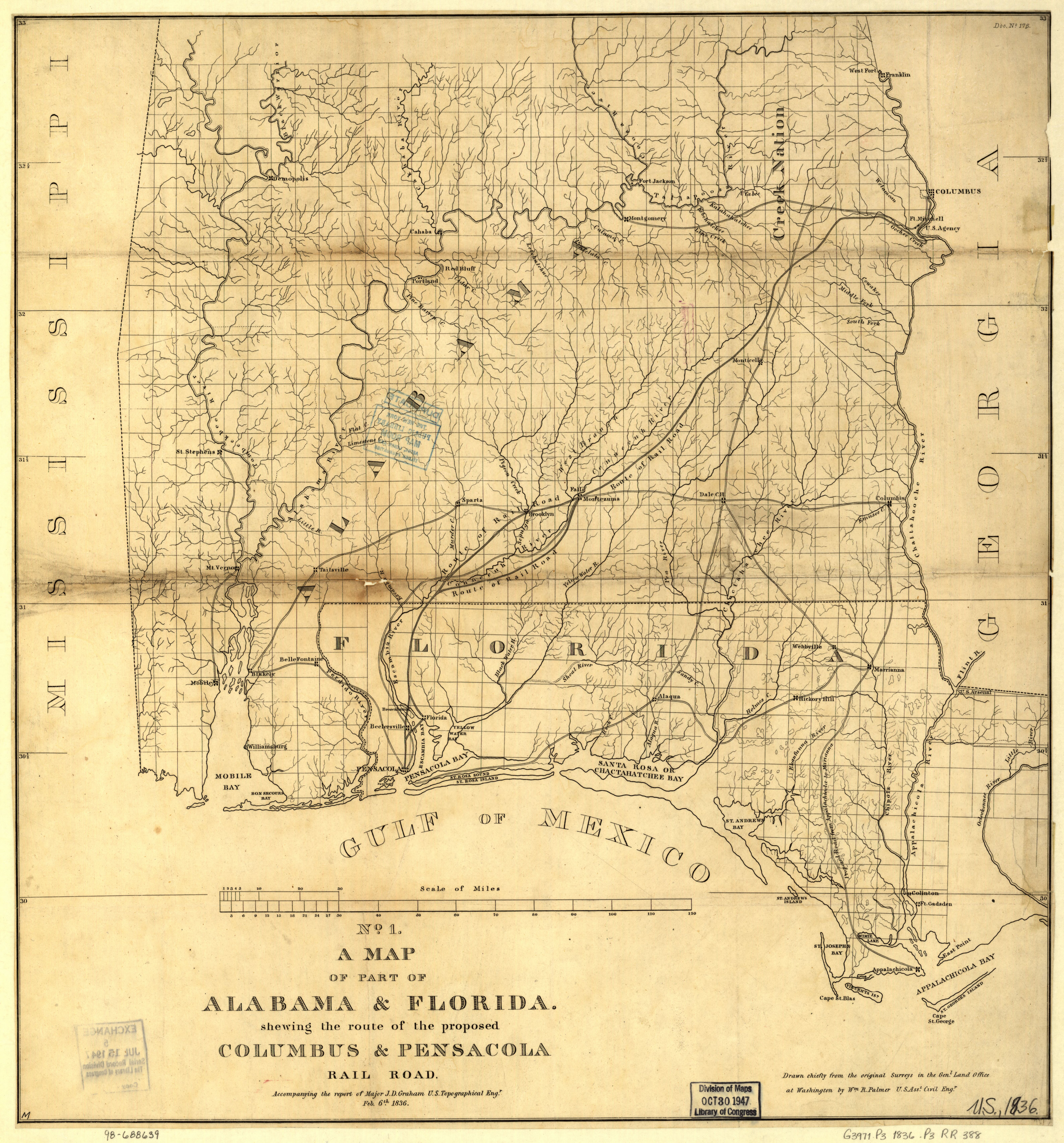 File:A map of part of Alabama & Florida, showing the route of the ...