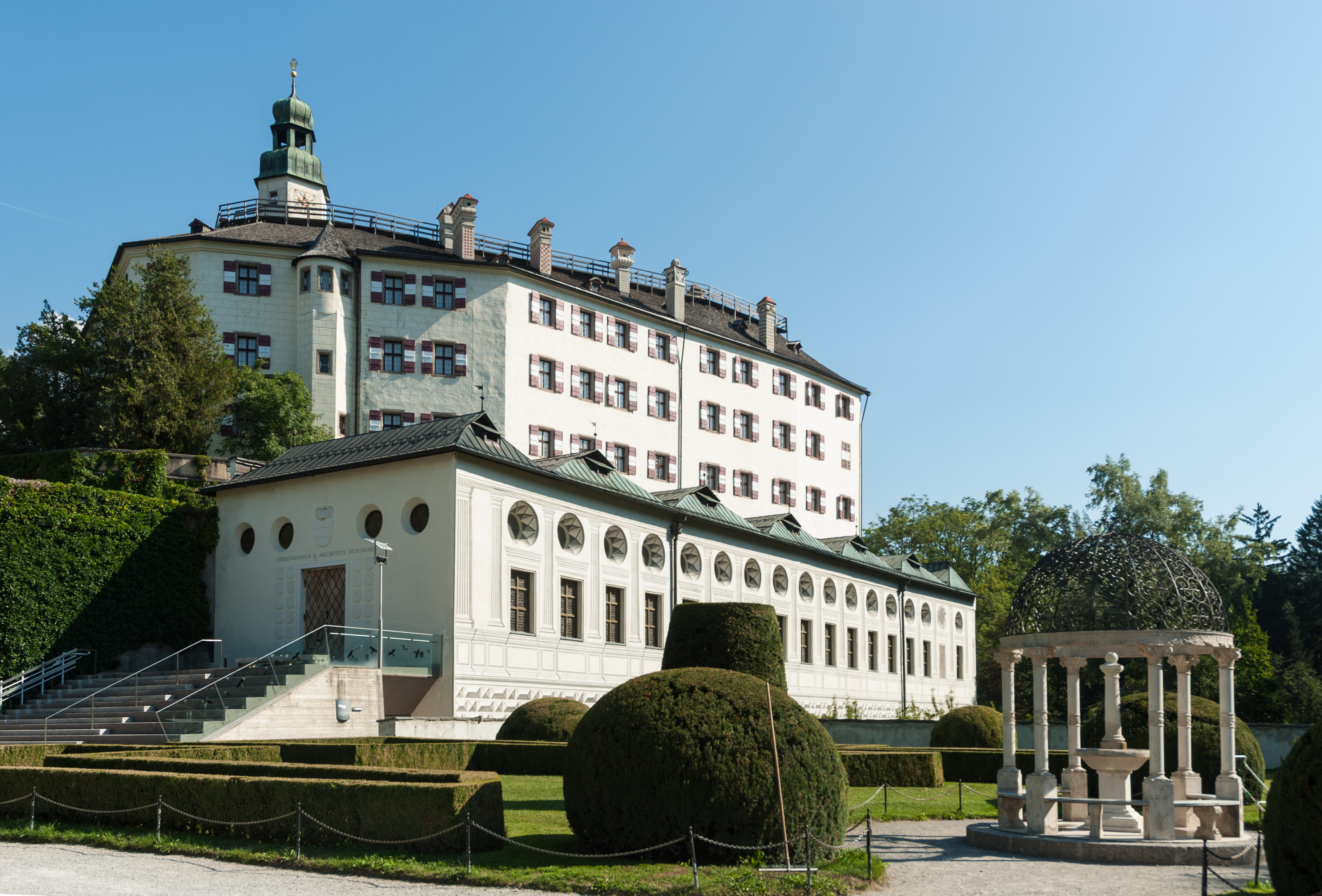 Front view of Ambras Castle