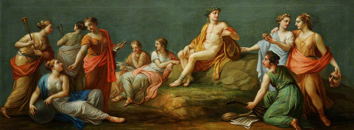 Antonio Zucchi - Apollo and the Muses, 1767