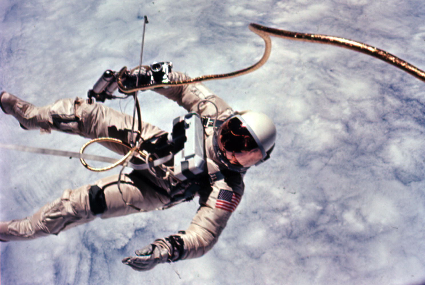 jumping astronaut in space - photo #34