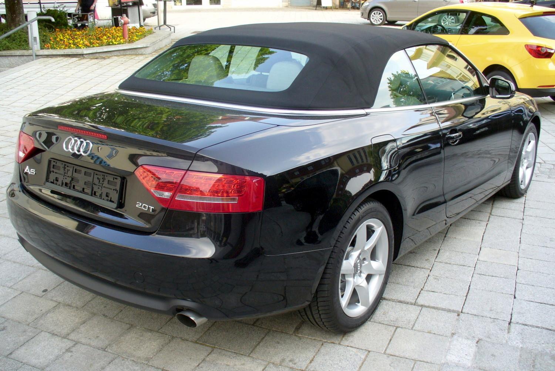 File Audi A5 Cabrio 2 0 Tfsi Phantomschwarz Heck Jpg