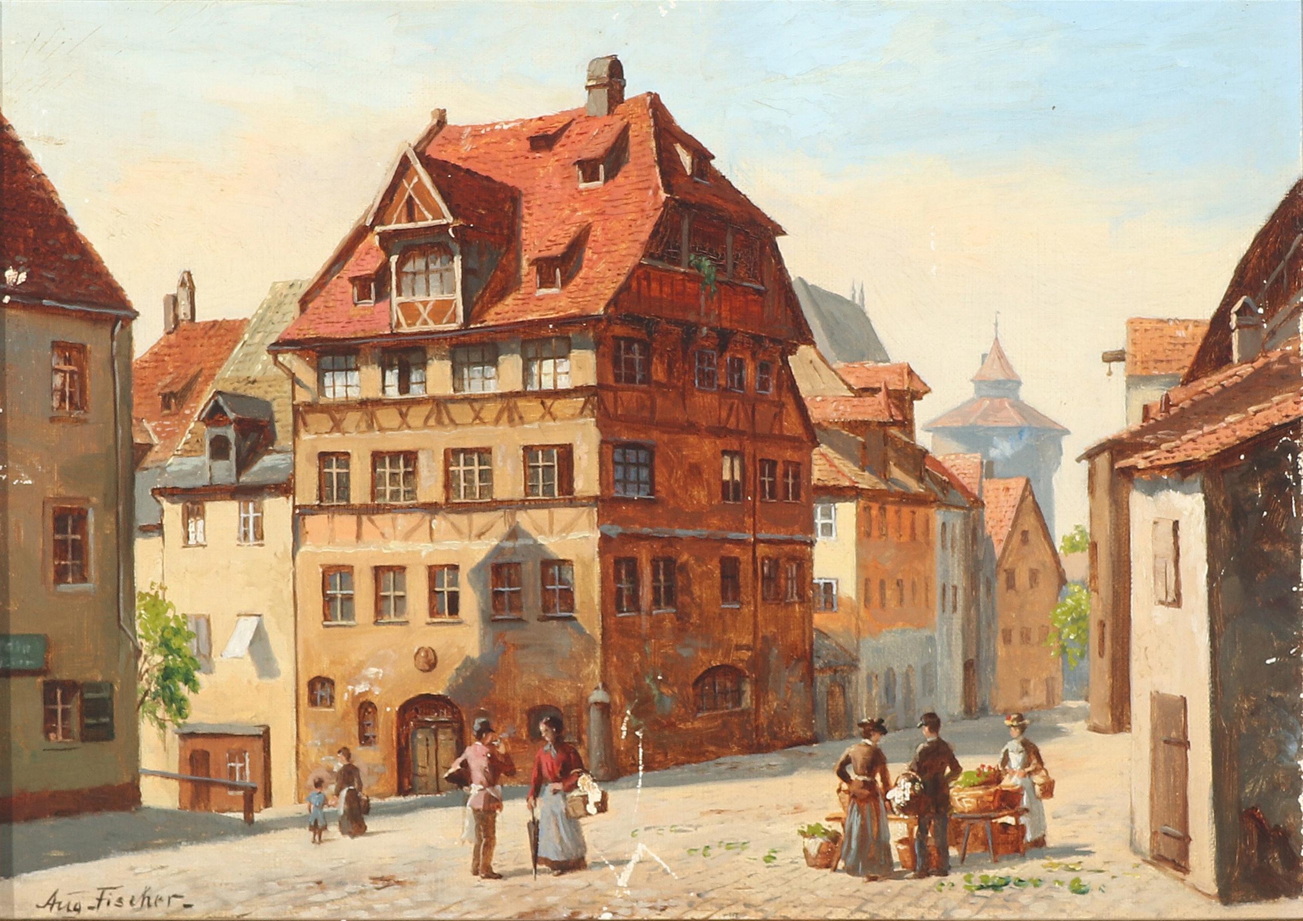 File:August Fischer - Albrecht Dürer Haus, Nürnberg.png ...