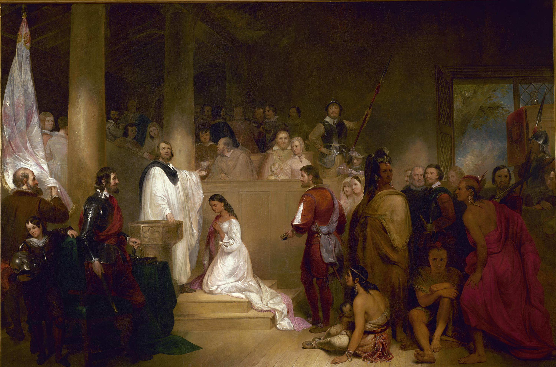 Baptism of Pocahontas by John Gadsby Chapman