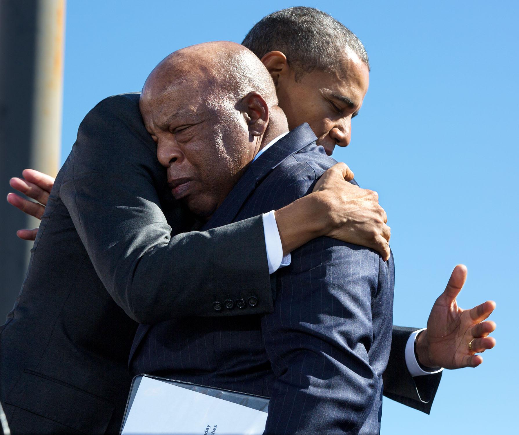 filebarack obama hugs john lewis 2015jpg wikipedia
