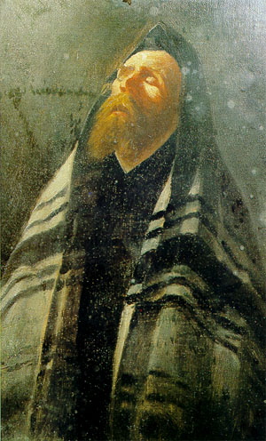 Buchbinder-Rabbi Praying