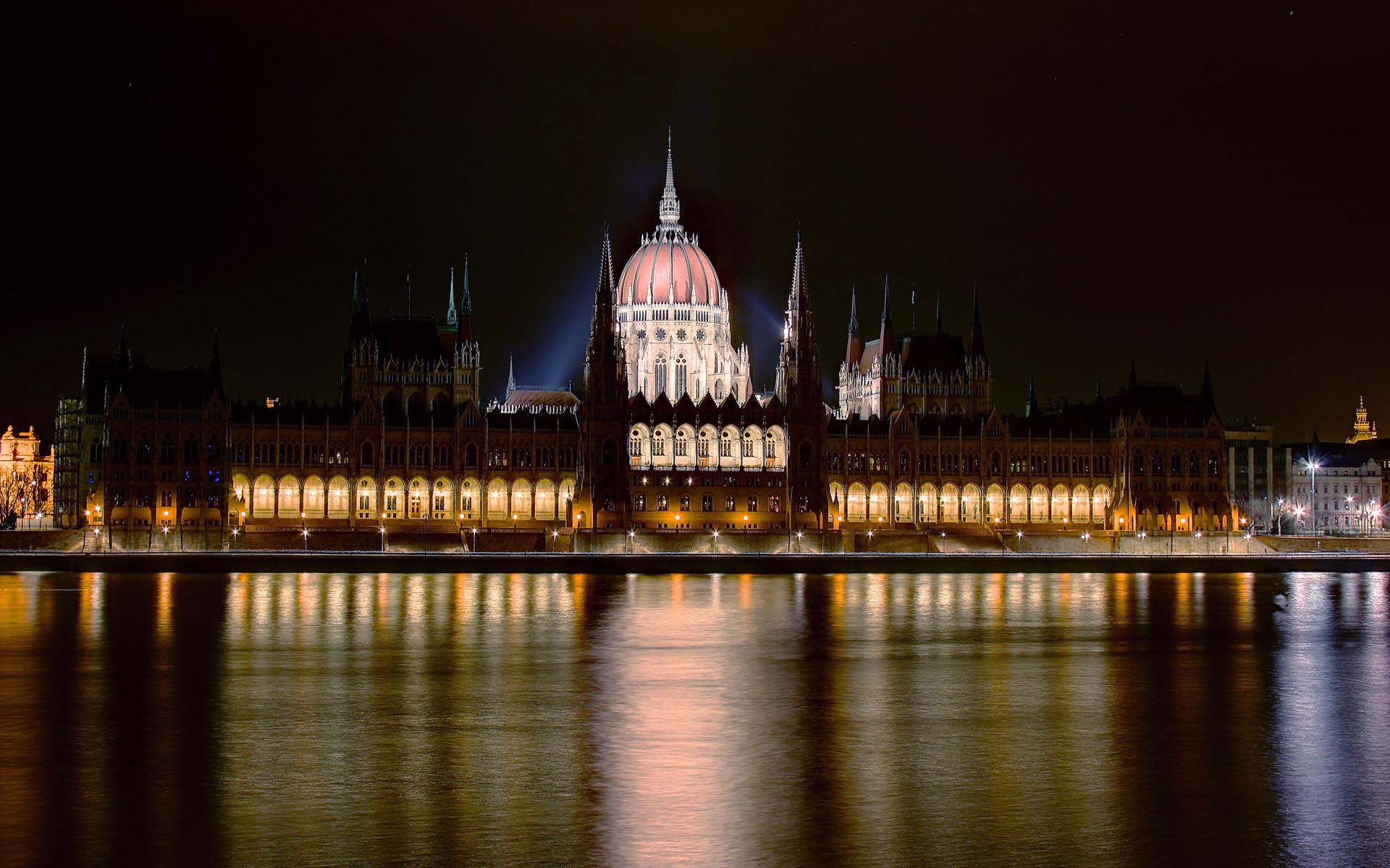 File Budapest Parlament By Night Wuxga Jpg Wikimedia Commons