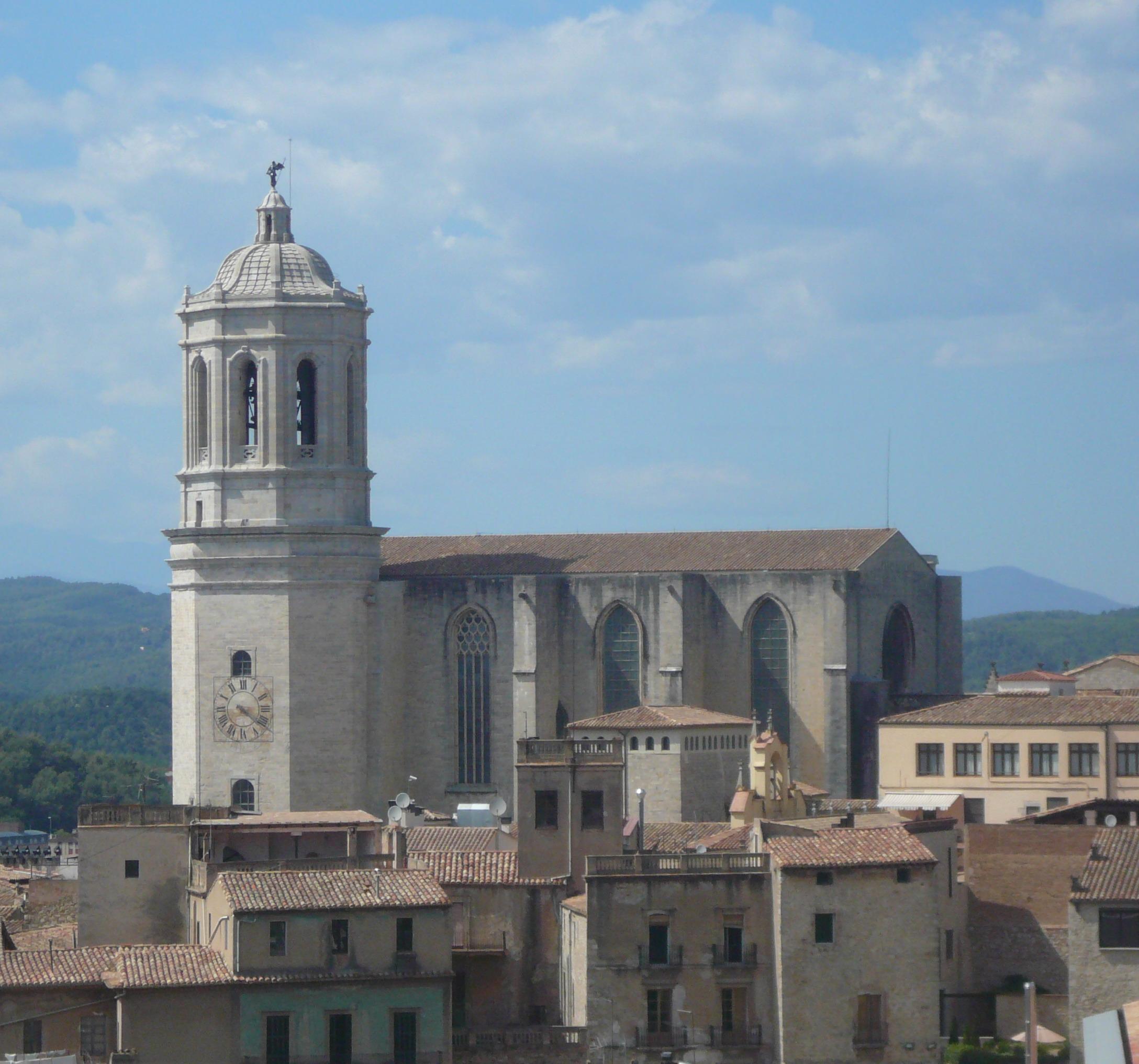File Catedral De Girona Des De La Muralla Jpg Wikimedia Commons
