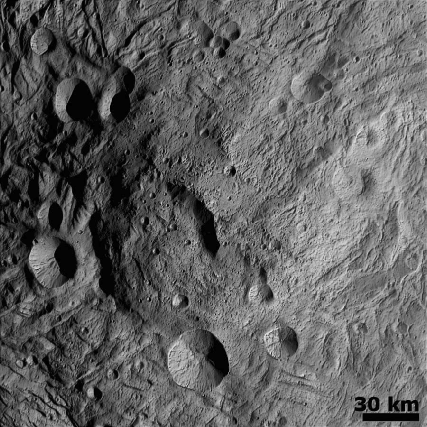 File:Central Mound at the South Pole Asteroid Vesta Hillshade png