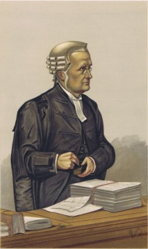 Caricature of Sir Charles Russell QC MP. Capti...