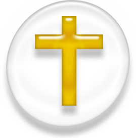Golden cruciform cross, a long vertical bar with a short horizontal bar near the top.
