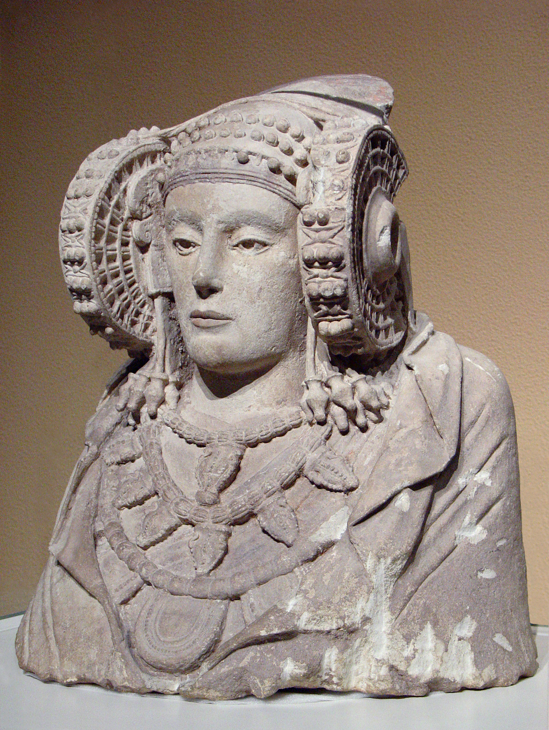 The Lady of Elche, a piece of Iberian sculpture from 4th century BC
