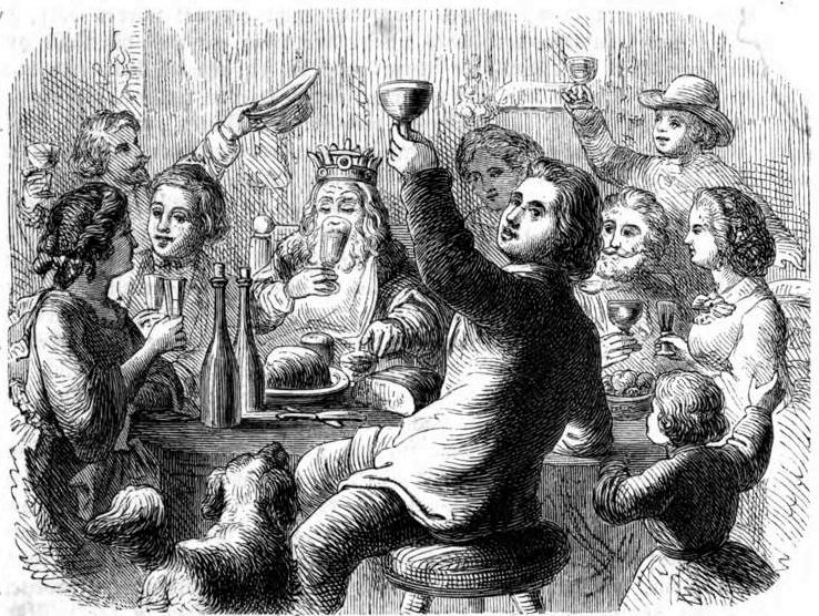 Das festliche Jahr img050 Der König trinkt.jpg