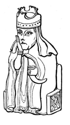 File:Drawing_of_Lewis_chessmen_Queen,_c.1845
