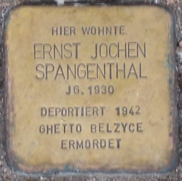 Ernst Jochen Spangenthal Stolperstein in Eisenach.jpg