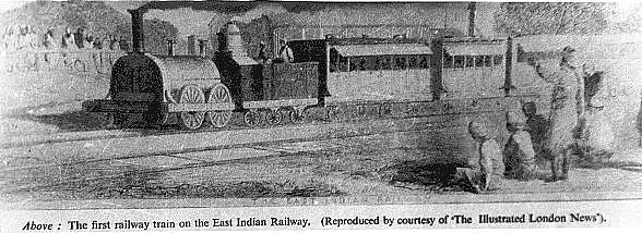First train of the East Indian Railway, 1854 - Howrah–Bardhaman main line