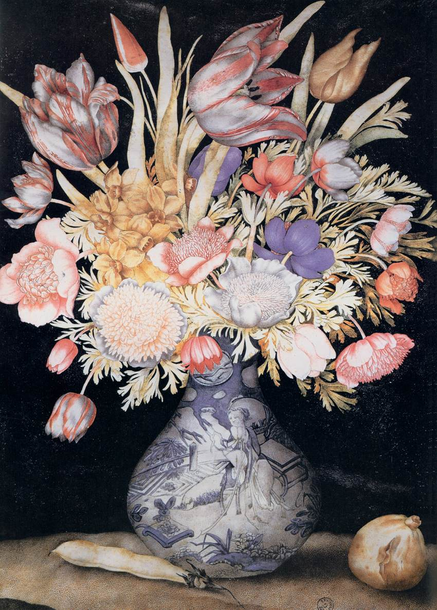 File Giovanna Garzoni Chinese Vase With Flowers A Fig And A Bean Wga08491 Jpg Wikimedia