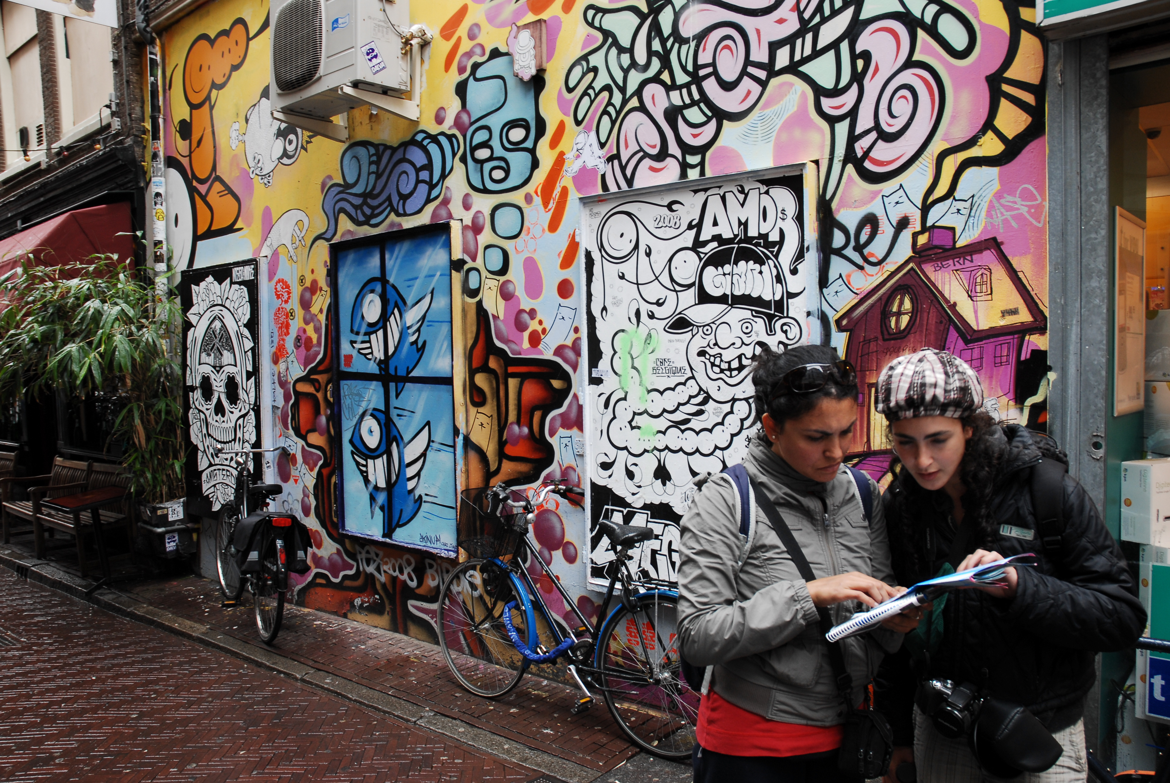 File Graffiti In The Streets Of Amsterdam Netherlands