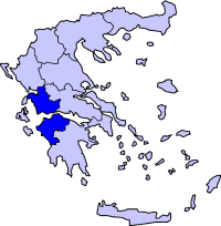 Location of Yunani Kulon Periphery in Greece