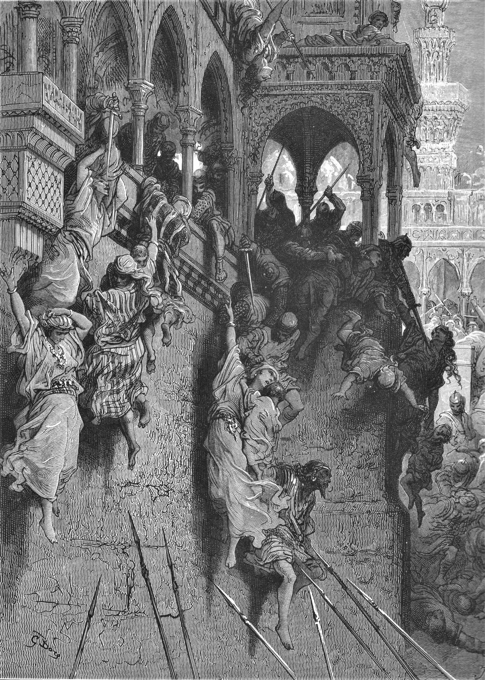 La masacre de Antioquía. Gustave Doré. Imagen de Wikimedia Commons.