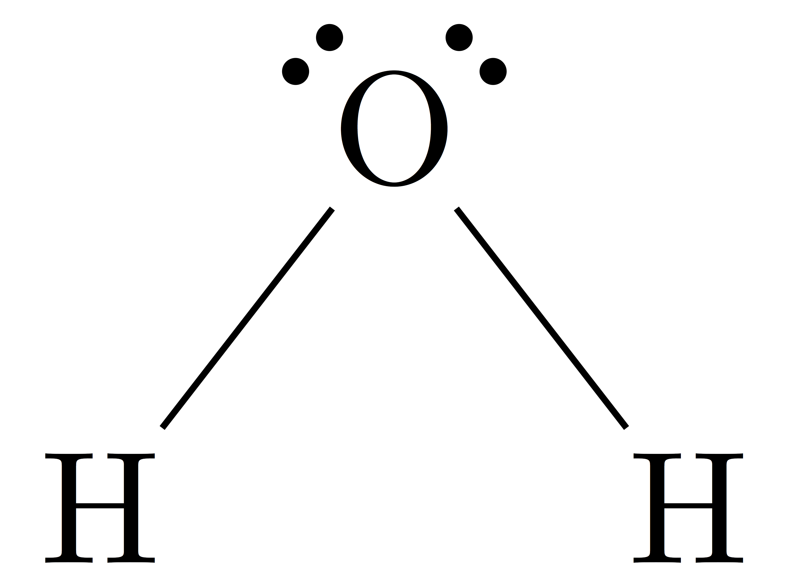 h2o lewis structure