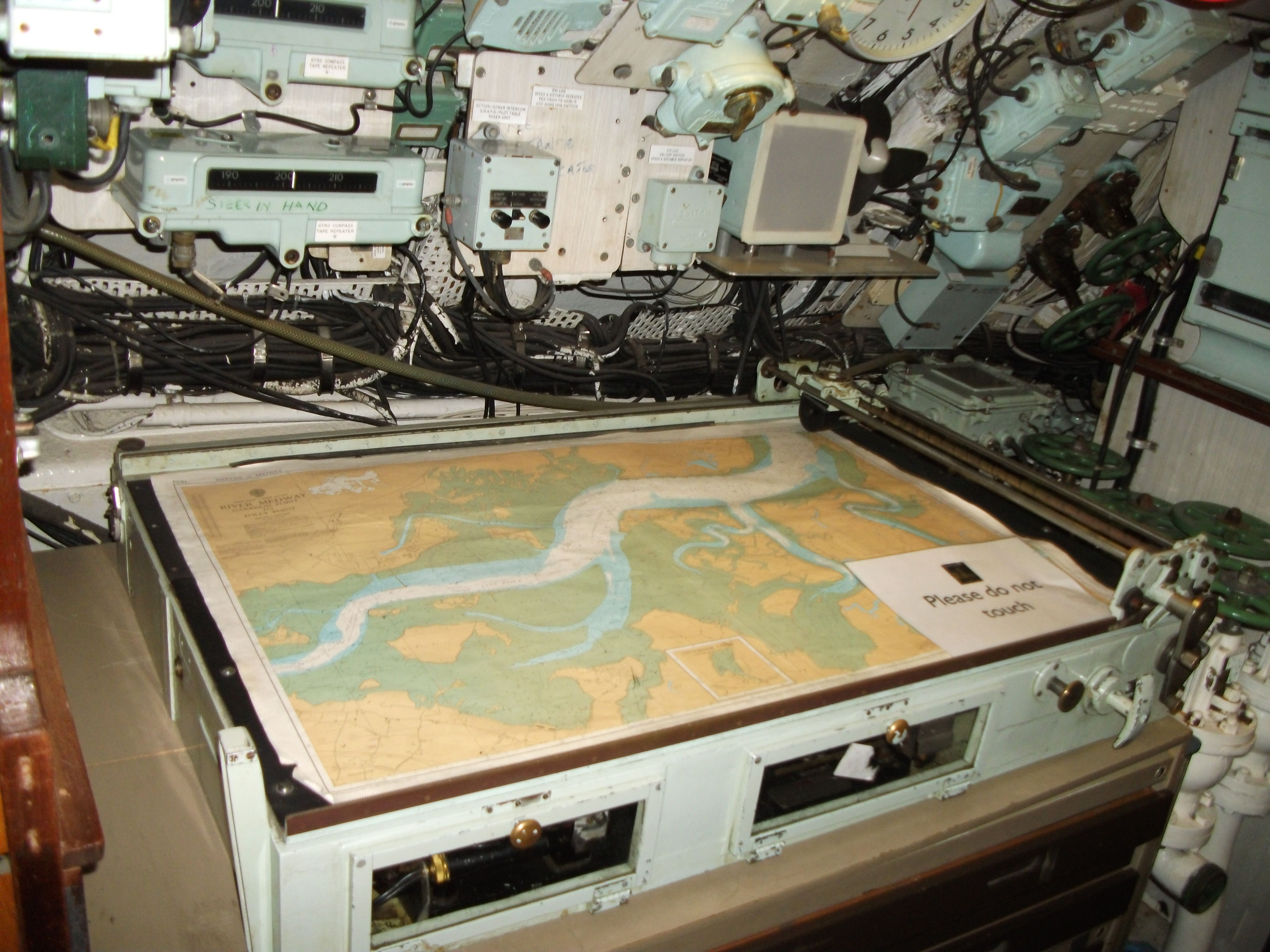 X Table Chart: HMS Ocelot 1962 control room chart table.JPG - Wikimedia Commons,Chart