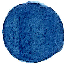 Extract of natural indigo applied to paper