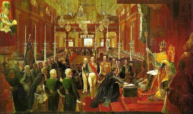 Jean-Baptiste Debret - Coroação de D. Pedro I, 1828