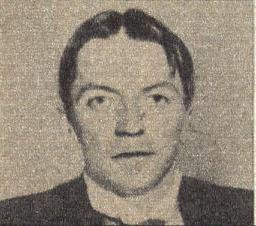 Photo of Kaj Munk published in<br>the ''[[De Wervelwind]]'', February 1944