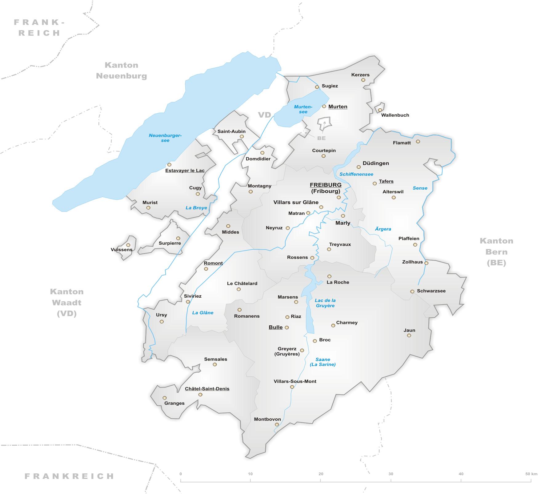 Freiburg Schweiz Karte.Datei Karte Kanton Freiburg Png Wikipedia