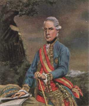Ernst Gideon von Laudon. The battles of Guntramovice and Domasov were his first big successes. Later he was promoted to field marshal. Laudon.jpg