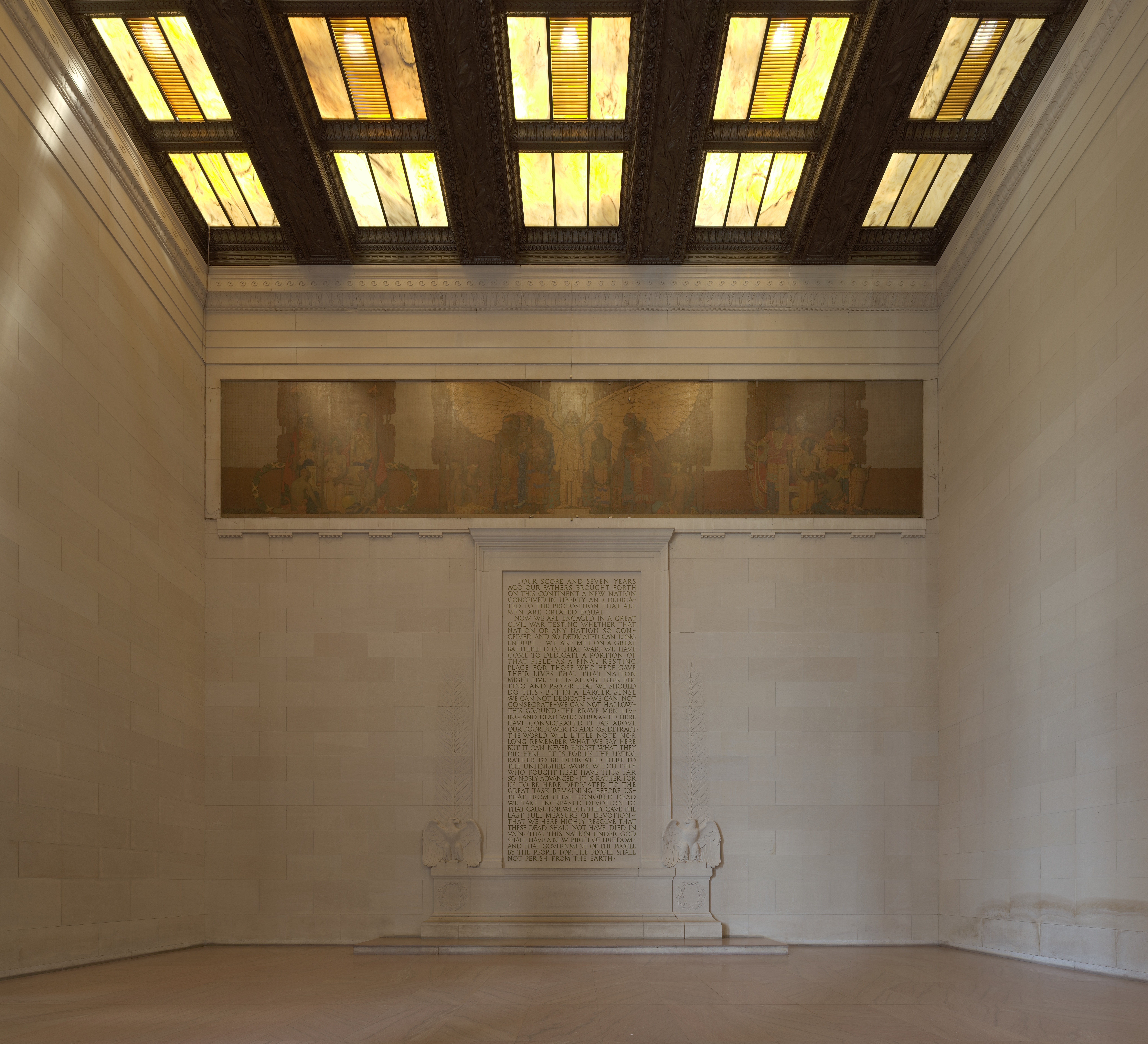 File lincoln memorial south wall interior jpg Wall interior