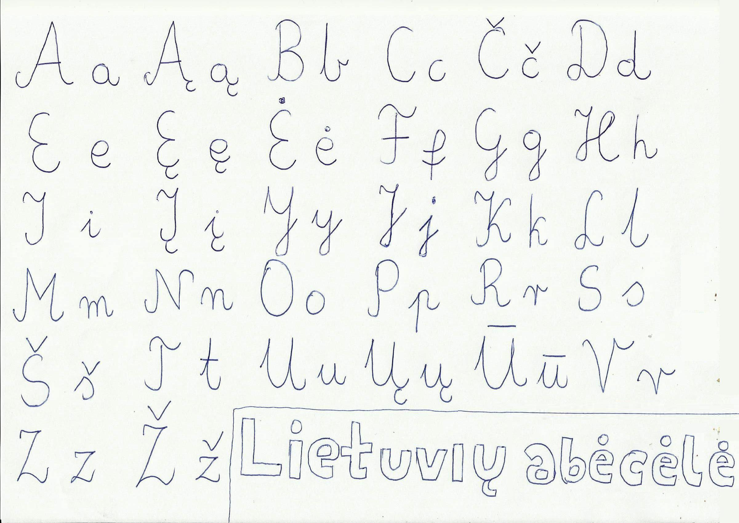 Worksheet Handwritten Alphabet filelithuanian handwritten alphabet jpg wikimedia commons jpg