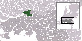 Nieuwendijk Village in North Brabant, Netherlands