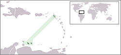 Location of Nyderlandų Antilai