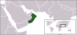 Location of Oman