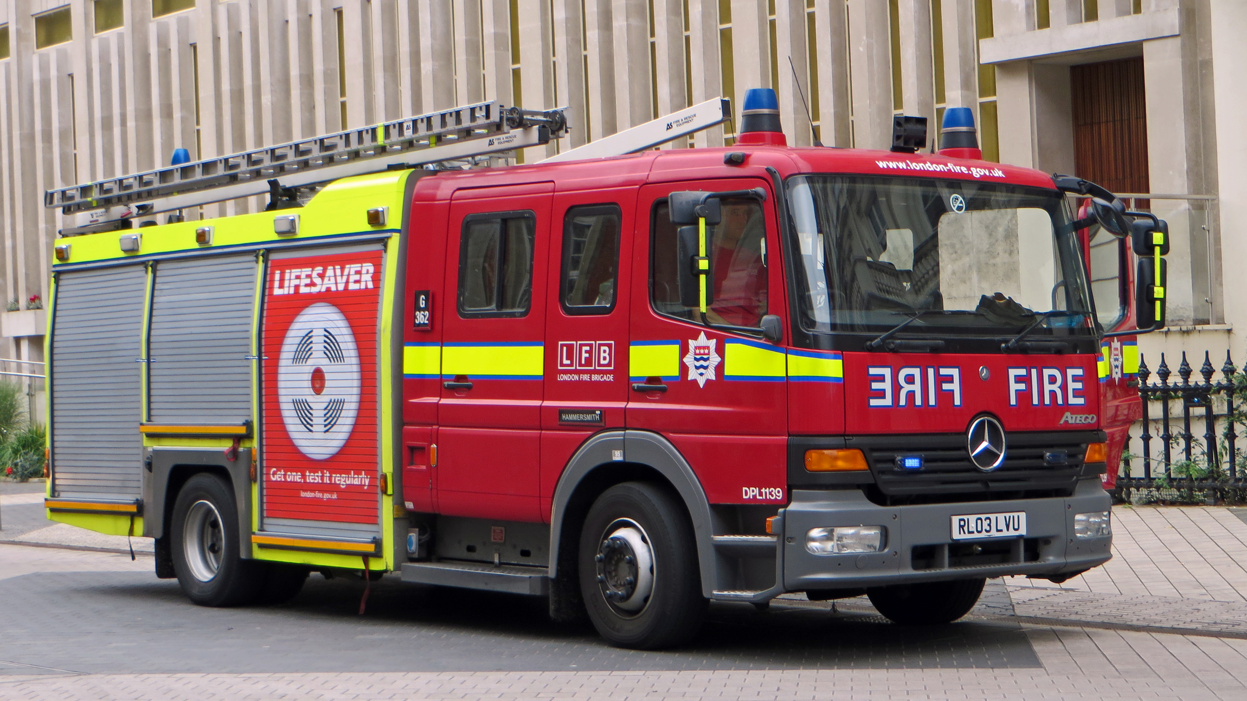 File London Fire Brigade Mercedes Benz Atego London
