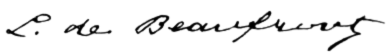 Ficheru:Louis de Beaufront signature.png