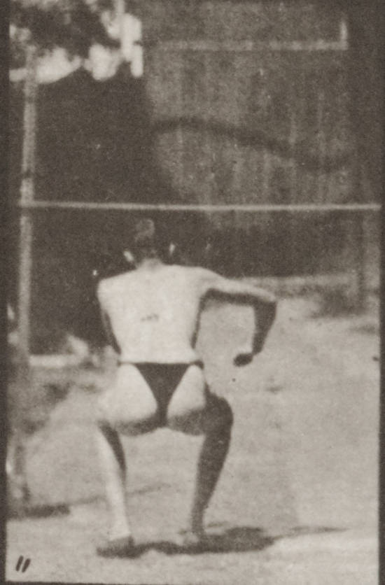 Man in pelvis cloth jumping horizontal bar (rbm-QP301M8-1887-157b~11)